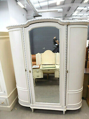 French,wardrobe,flat pack,mirrored,curved,armoire,linen press,antique,knock down