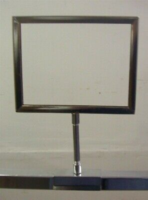 "Store Fixtures 3 SIGN HOLDERS METAL 5"" x 7"" with 1"" square tubing attachment"