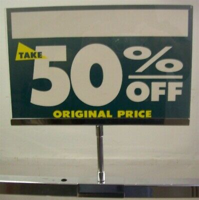 "Store Fixtures 3 SIGN HOLDERS METAL 7"" x 11"" with 1"" square tubing attachment"