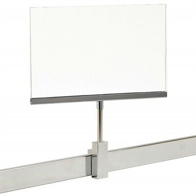 """New 2 Pack 7"""" x 11"""" Acrylic Frame Magnetic Sign Holder Card Display, 10.4"""" H"""