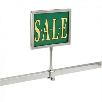 """2 New 7"""" x 11"""" Metal Sign Holder Card Frames With Square Tubing Base 12"""" Tall"""