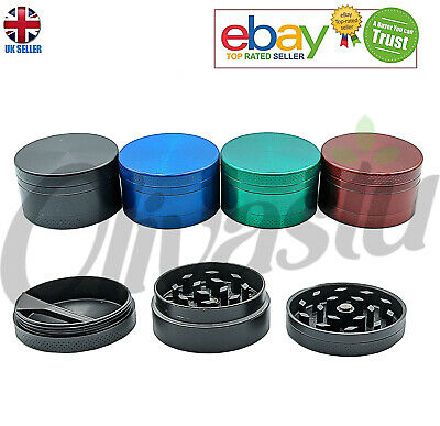 NEW MAGNETIC 40MM METAL GRINDER FOR HERB POLLINATOR 3 PART LEAF with SHARK TEETH