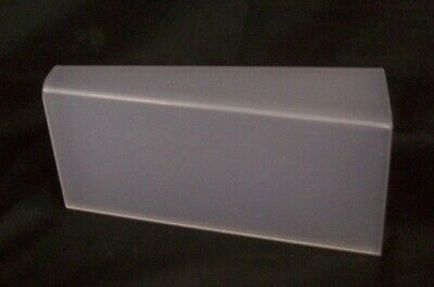 """Store Display Fixtures 3 FROSTED ACRYLIC DISPLAYS 10.25"""" long x 4.5"""" tall Shoes"""