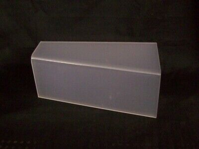 """Store Display Fixtures 3 FROSTED ACRYLIC DISPLAYS 10"""" long x 4"""" tall Shoes"""