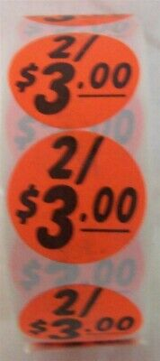 """Store Display Fixture 1500 NEW SELF ADHESIVE ROUND LABELS 1.5"""" dia 2 FOR $3.00"""
