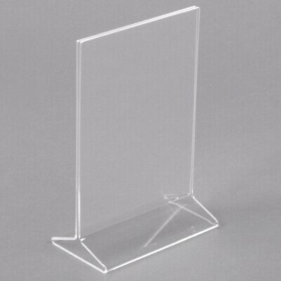 "Store Display Fixtures 2 NEW ACRYLIC TOP LOAD SIGN HOLDER 5.5"" WIDE X 7"" HIGH"