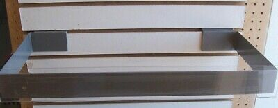 """Store Display Fixtures NEW SLATWALL SIGN HOLDER OR HANG ROD GRAY 10"""" x 23"""""""