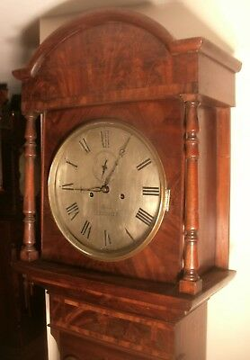 "Antique   Mahogany  "" Leicester ""  8 Day   Grandfather / Longcase Clock"