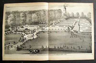 1870s - Beers Atlas Litho - Hance & Son - Nursery Green Houses - Rumson NJ