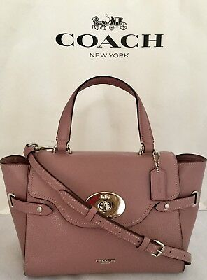$475 NWT COACH F39847 Blake Carryall 25 Pebbled Leather in ROSE GOLD