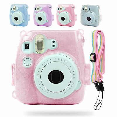 For Fujifilm Instax Mini 8 / 8+ / 9 Instant Camera Clear Case Hard Shining Cover