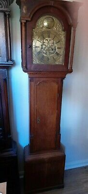 Blacket Wallace 8 Day Longcase Clock Brass Dial