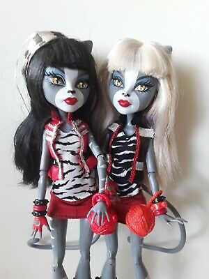 WERESISTERS Campus Stroll Monster High Dolls Good used condition 2 dolls