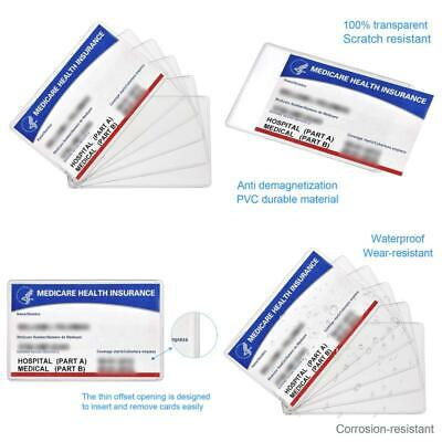 New Medicare Card Holder Protector Sleeves, 12Mil Clear Pvc Soft Waterproof Medi