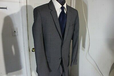 Hugo Boss Size 40R Gray 2 Button Wool Suit