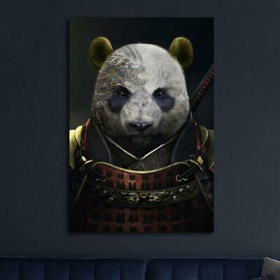 Callen Panda Samurai HD Canvas prints Painting Home decor Picture Room Wall art