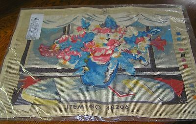 Tapestry Colour Canvas Still Life Vase Needlepoint Flower Cushion Cover Picture