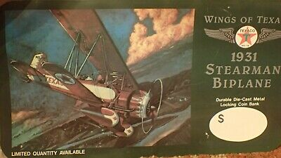 WINGS OF  TEXACO Stearman Biplane PUMP TOPPER ADVERTISING STORE DISPLAY SIGN