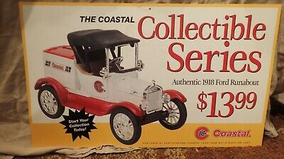 Coastal 1918 Ertl Ford Runabout 2 Sided Advertising Store Display Sign