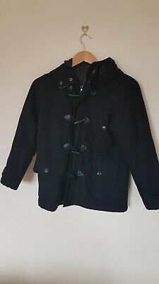 Childs Coat Age 11 Black Duffle Next #  <CX2320