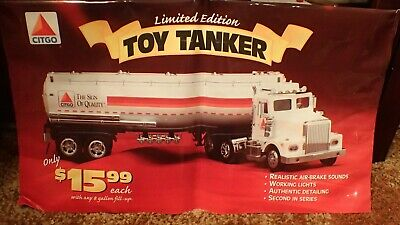 Citgo Toy Tanker Truck Pump Topper Advertising Store Display Sign