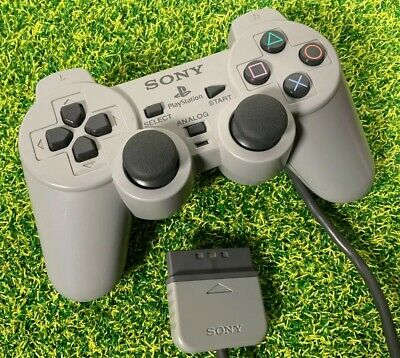 Official Sony PlayStation 1 PSOne PS1 Grey DualShock Controller SCPH-1200 #B