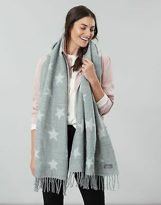 Joules Womens Mardale Reversible Scarf - GREY STAR in One Size