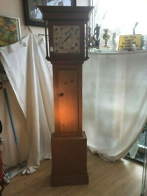 Antique Pine grandfather clock case #540a