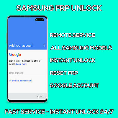 Samsung FRP Unlock Google Account Lock Reset Android FAST SERVICE All Models