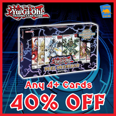 Duel Overload | DUOV | Pick any 4+ | 40% OFF | Yugioh Singles