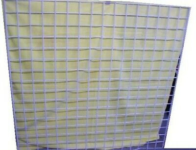"Store Display Fixtures 2 GRIDWIRE PANELS WHITE 48"" WIDE X 48"" TALL"