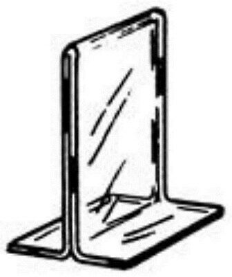 """Store Display Fixtures NEW ACRYLIC BOTTOM LOAD SIGN HOLDER 11"""" W x 8½"""" H"""