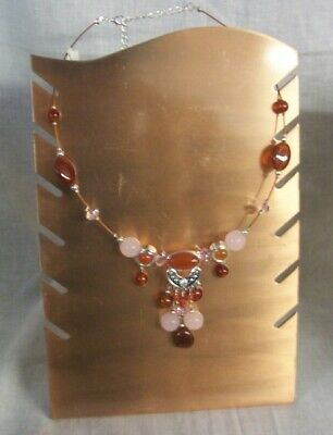 Store Display Fixtures NEW COPPER JEWELRY NECKLACE DISPLAY Holds 6 Pieces