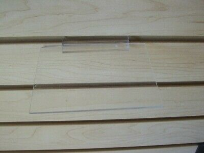 "Store Display Fixtures 6 ACRYLIC SLATWALL SHELVES 5"" long x 4"" deep"