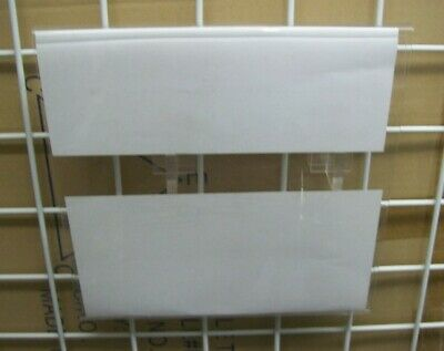 Store Display Fixtures 2 ACRYLIC GRIDWIRE OR RECTANGLE TUBING SIGN HOLDERS