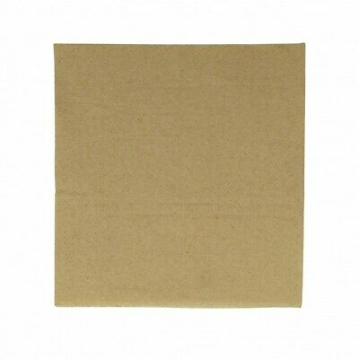 NEW Kraft 1 Ply Paper Napkins - 150mm - 300x300 Unfolded - PACKET(500)