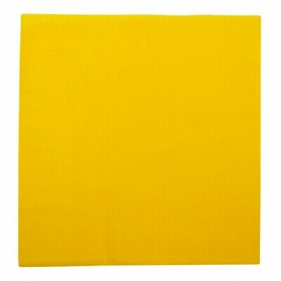 NEW Yellow 2 Ply Paper Dinner Napkins - 200mm - 400x400 Unfolded - PACKET(100)