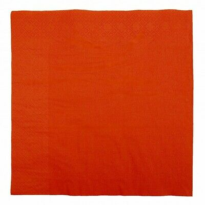 NEW Red 2 Ply Paper Dinner Napkins - 200mm - 400x400 Unfolded - PACKET(100)