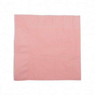 NEW Sugar Pink 1 Ply Paper Luncheon Napkins - 150mm - 300x300 Unfolded
