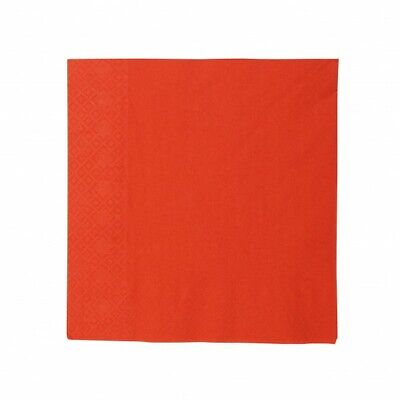 NEW Red 2 Ply Paper Luncheon Napkins - 150mm - 300x300 Unfolded - PACKET(100)