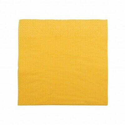 NEW Yellow 2 Ply Paper Luncheon Napkins - 150mm - 300x300 Unfolded