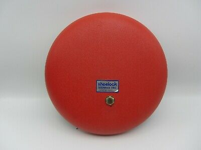 Vintage Red Wheelock Signals Fire Alarm Bell Series 43 115 Volt - Untested