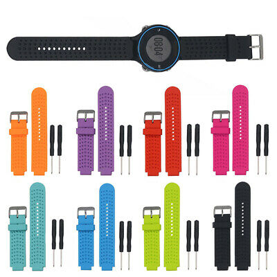 Replacement Silicone Watch Strap Band For Garmin Forerunner 220/230/235/620/630