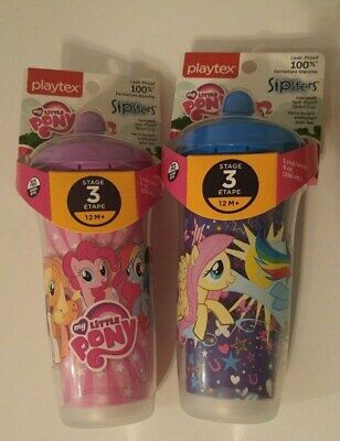 Playtex Sipsters My Little Pony Stage 3 Spill Proof Cup 9oz. 2 Pack