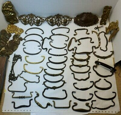 Huge 53 piece lot of Antique & Vintage Drawer Pulls (BIN #99)