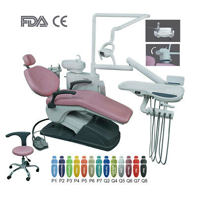 UK Dental Unit Chair Computer Controlled Hard Leather Doctor Stool DC Motor
