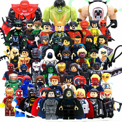 20 Pcs Superhero Minifigures Iron Man Building Blocks Action Figures Toys Random
