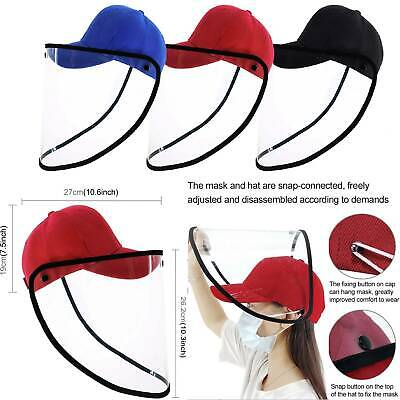 Hat-Mounted Transparent Mask Protective Cap Face Mask Plastic Anti-fog Saliva