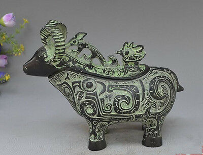 Collectibles Old Chinese bronze Handwork Sheep statue