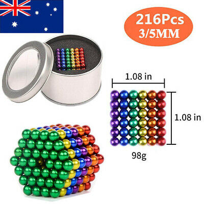216Pcs Mini Magic Magnets Ball Neodymium Sphere Puzzle Cube Stress Relief Gifts
